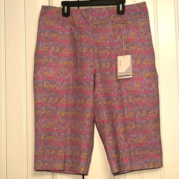 Nike Golf Nike Fit Dry floral, long leg shorts; 10
